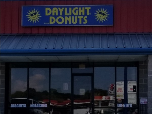 Daylight Donuts on Highway 65 opens at 4:00 a.m., so you can enjoy an early breakfast