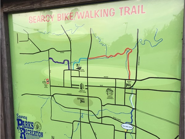 Searcy has so many walking trails! The trails go through the entire town