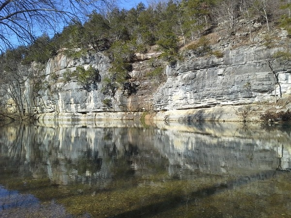 Beautiful reflections along the Buffalo River
