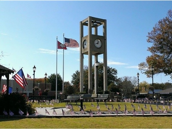 Veterans Memorial on the Town Square