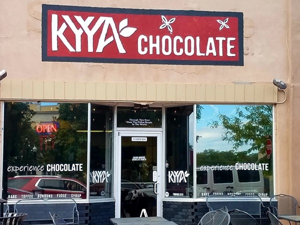 First retail location for Kyya ~ the first 'bean-to-bar' chocolate company in Arkansas