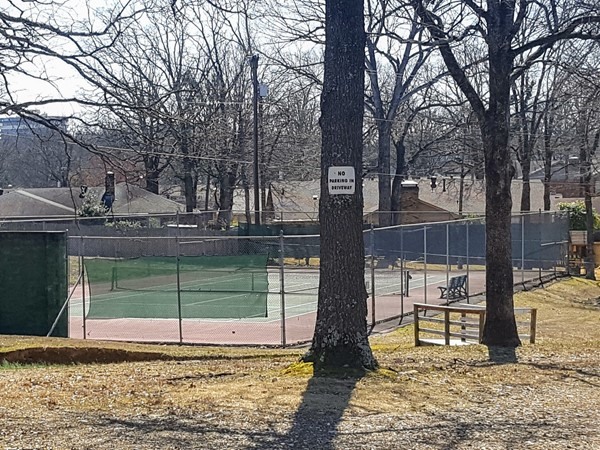 One of the tennis courts at OPOA park