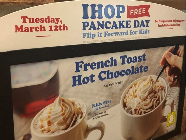 Save the date to visit your Cabot IHOP