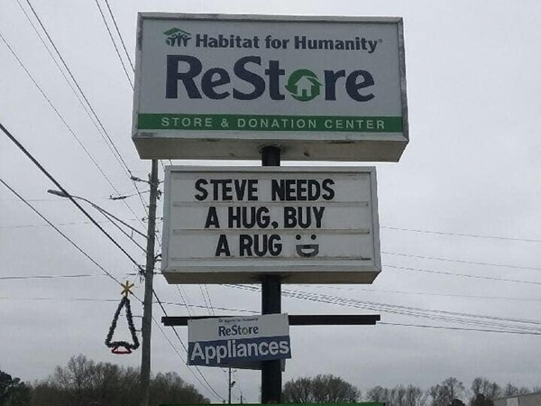 Go give Steve a hug and do a little shopping for a good cause