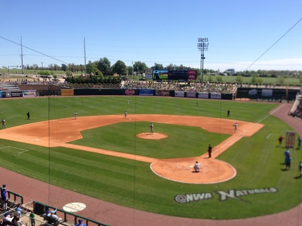 A great day at the ballpark. NWA Naturals are a division of the KC Royals