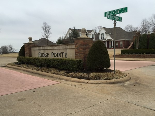 Ridge Pointe entrance