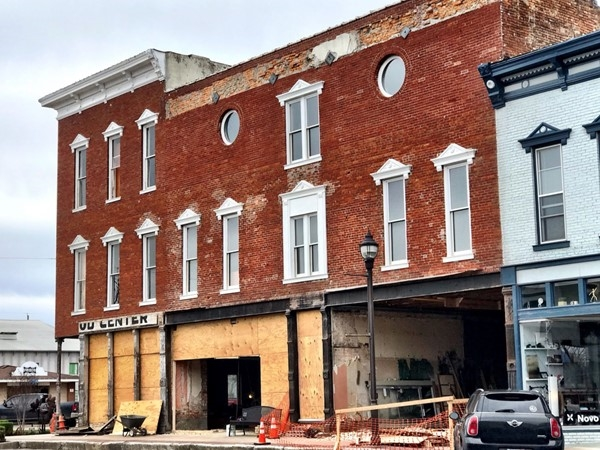 Love seeing old buildings come back to life in Downtown Rogers
