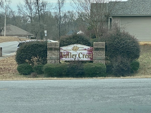 Entrance to Valley Crest Subdivision located in Benton