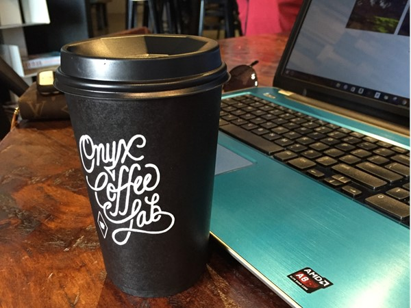 What a way to enjoy a delicious coffee in Springdale at the Onyx Coffee Lab