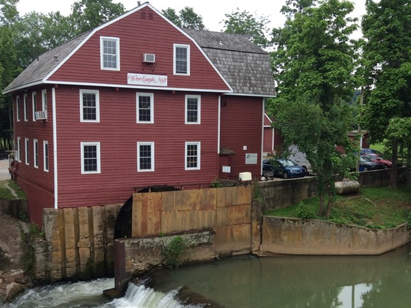 Nice view of historic War Eagle Mill