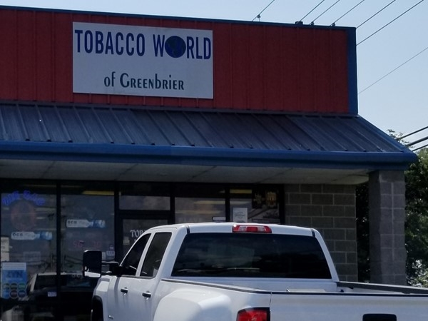 Tobacco World of Greenbrier is on Highway 65 near Baywood