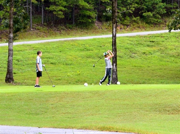 Junior golfers on Coronodo Golf Course, Hot Springs Village