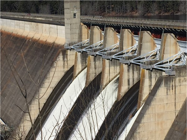 Flood gates opened at Greers Ferry Lake to lower lake levels in anticipation of spring rains