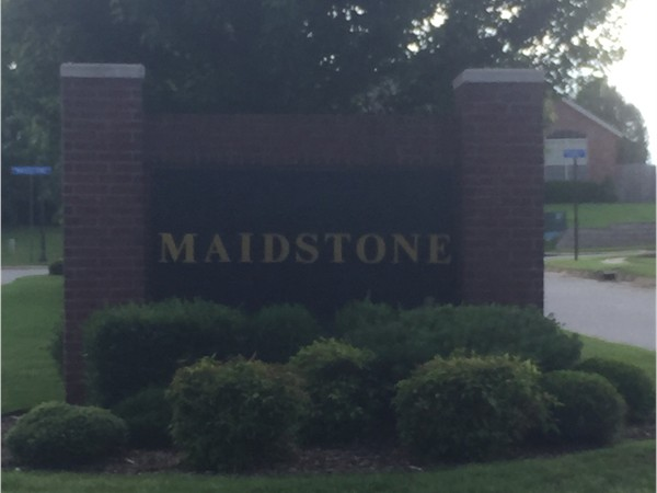 Maidstone is another great subdivision in Bentonville