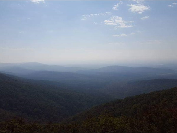 View from one of the lookouts, going up Rich Mountain from Mena