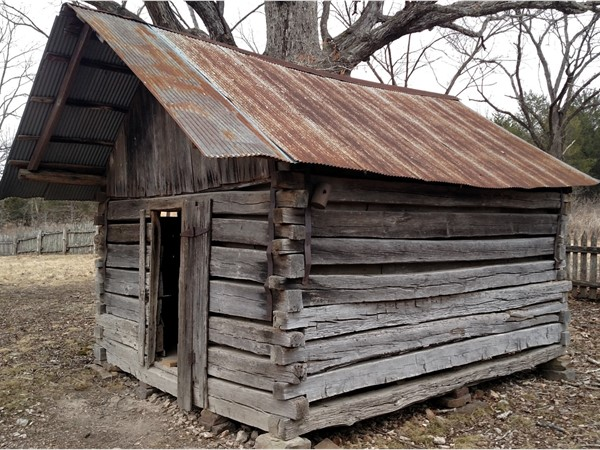 Collier Homestead storage building that may have been the families shelter till their home was built