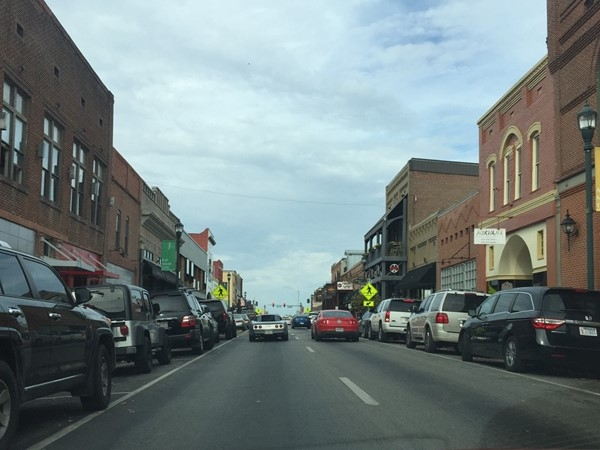 Main Street in historic Downtown Jonesboro has great entertainment, shops and restaurants