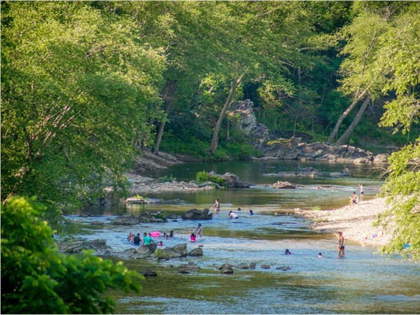 A beautiful day for a swim at the Cossatot River
