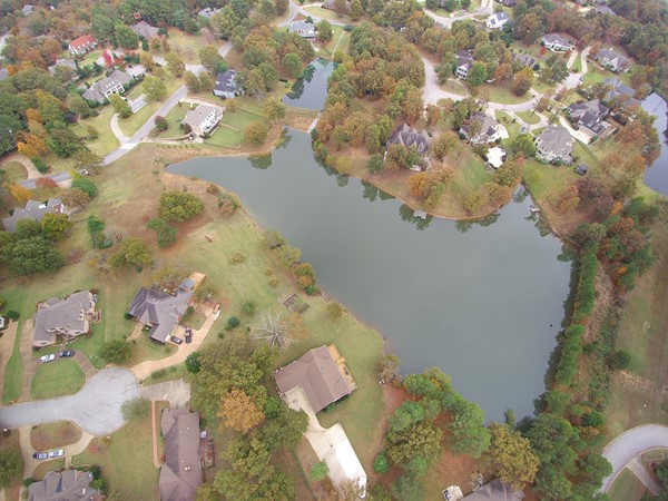 View of Nix Lake subdivision on Crowley's Ridge