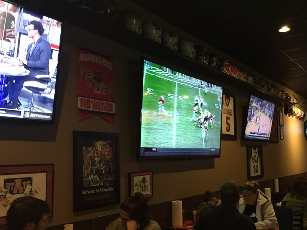 Wings To Go is a great place to watch sport events and eat in a family atmosphere