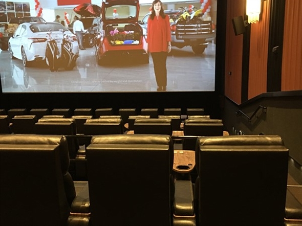 The Movie Taverns soft leather reclining seats are superior to all theaters in Little Rock