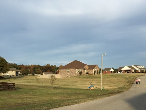 Street view of North Pointe subdivision in the NW edge of Jonesboro. Country living close