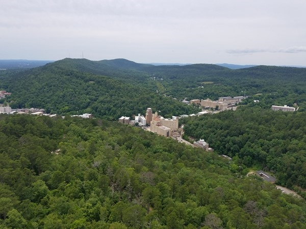 The Arlington Hotel from on top the Hot Springs Mountain Tower