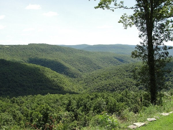 Beautiful Ozark mountain view from Compton Mountain near Harrison