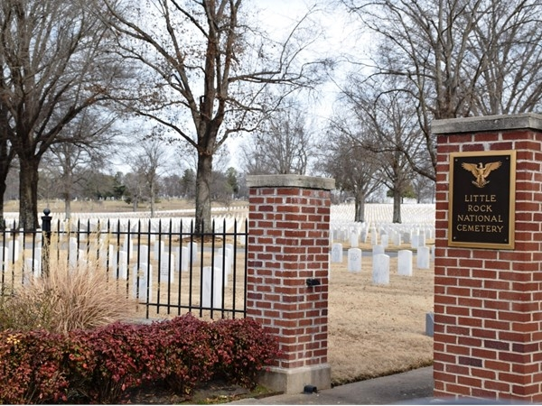 The Little Rock National Cemetery is located just off Roosevelt Road and Interstate 30