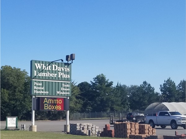 Whit Davis Lumber Plus on Highway 65 near East Side