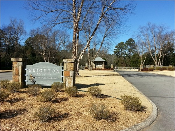 Gated entrance to Brighton Pointe - a Greers Ferry Lakefront Community
