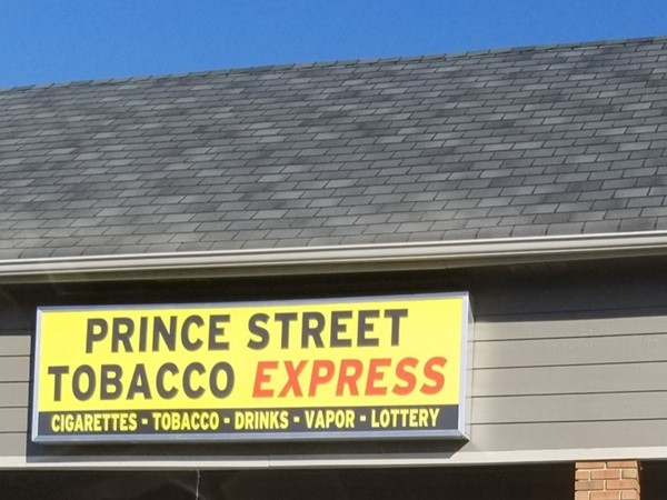 Prince Street Tobacco Express for all your tobacco needs