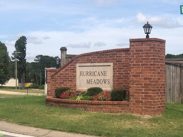 Entrance to Hurricane Meadows in Benton, located in Saline County