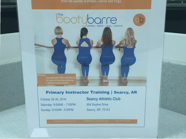 Searcy's Athletic Club is having a new teacher come teach Bootybarre