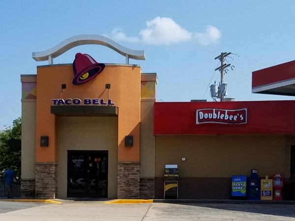 Taco Bell is attached to the Doublebee's on Highway 65