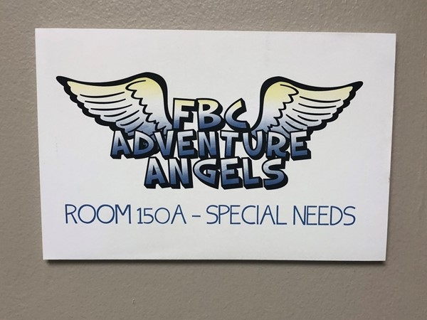 First Baptist Church has a special needs room for kids